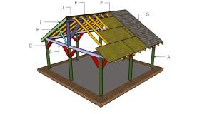 20×20 Picnic Shelter Roof Plans
