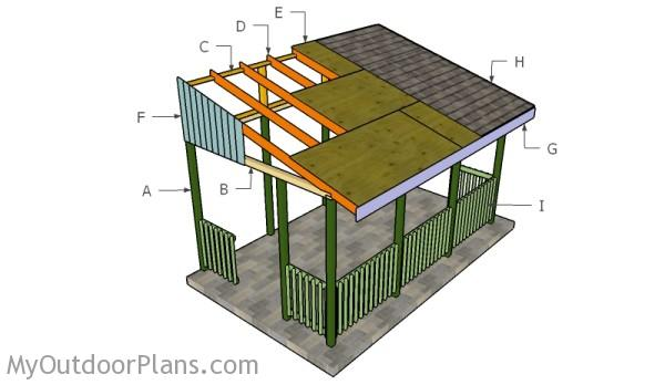 Lean to gazebo plans myoutdoorplans free woodworking for Lean to house plans
