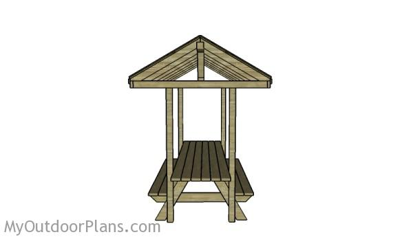 Building a picnic table with roof