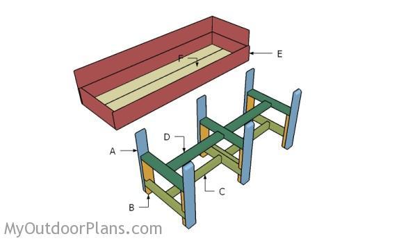 Waist High Raised Garden Bed Plans   MyOutdoorPlans   Free Woodworking ...
