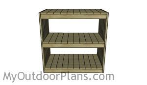 Building a wooden storage rack