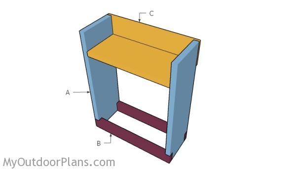 Building an indoor firewood rack
