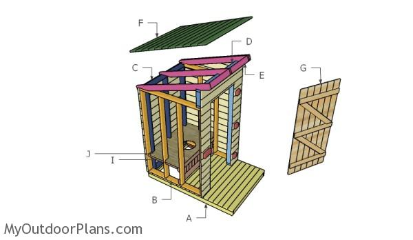 Outhouse Plans   MyOutdoorPlans   Free Woodworking Plans and    Building an outhouse
