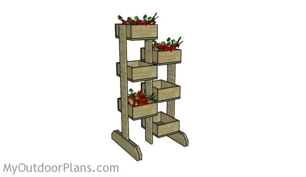 Building vertical planters