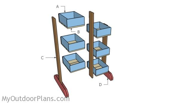 Building wood vertical planters