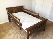 DIY 2×4 Farmhouse Bed