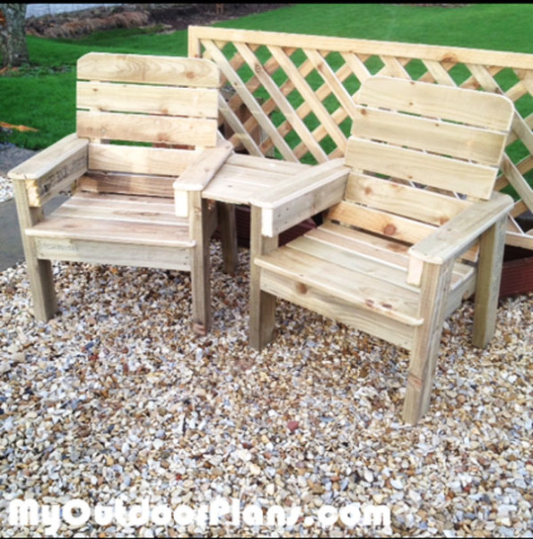 DIY Jack and Jill Chair Set | MyOutdoorPlans | Free ...