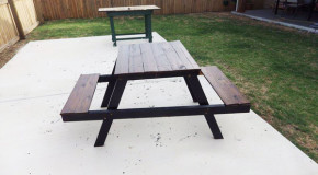 DIY Wood Kids Picnic Table