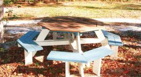 DIY Octagon Picnic Table