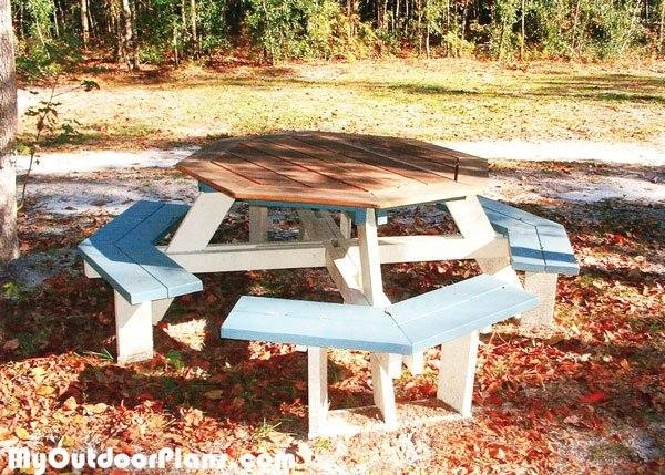 DIY Octagon Picnic Table