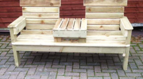DIY Patio Double Chair Bench