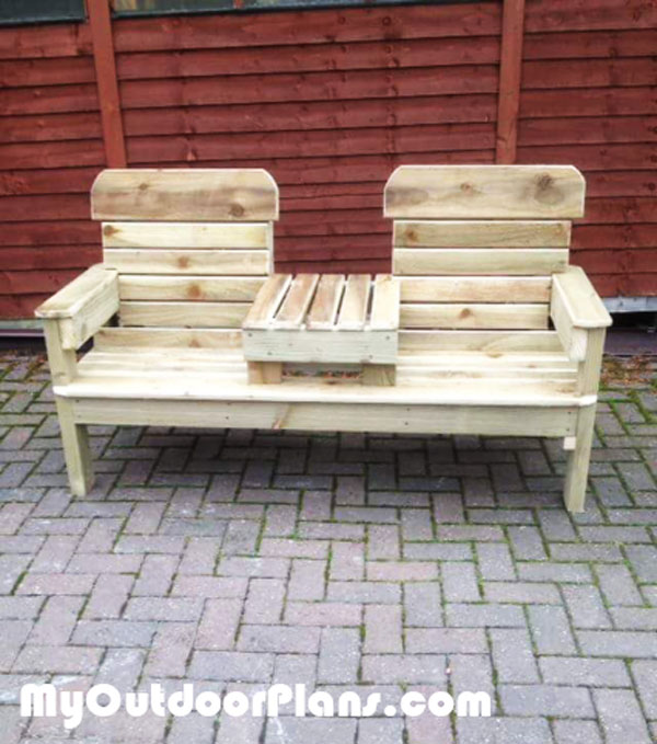 DIY Patio Double Chair Bench