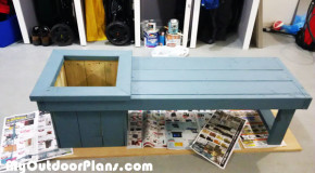 DIY Small Planter Bench