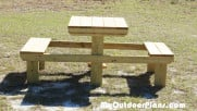 DIY Picnic Table for Two Persons