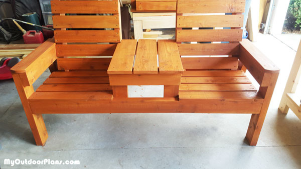 DIY Wood Patio Bench