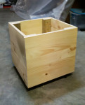 DIY Wood Storage Bin