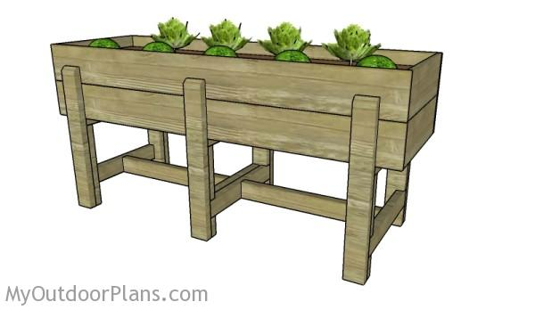 Waist High Raised Garden Bed Plans MyOutdoorPlans – Elevated Raised Garden Beds Plans