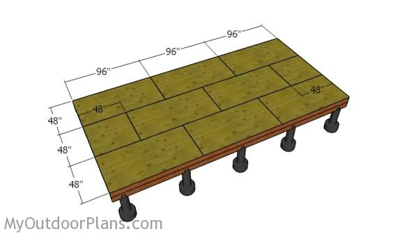 Fitting the flooring sheets