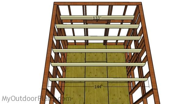 how to build a loft for a tiny house fitting the loft joists - Tiny House How To