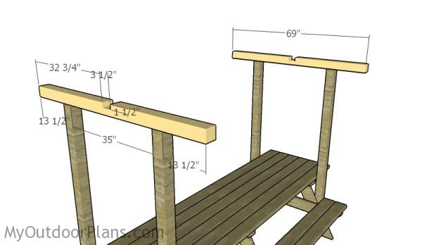 Building a Picnic Table Roof | MyOutdoorPlans | Free ...