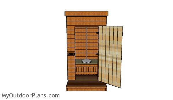 How to build a wood outhouse