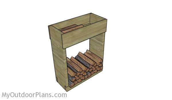 Indoor Firewood Rack Plans | MyOutdoorPlans | Free Woodworking Plans ...