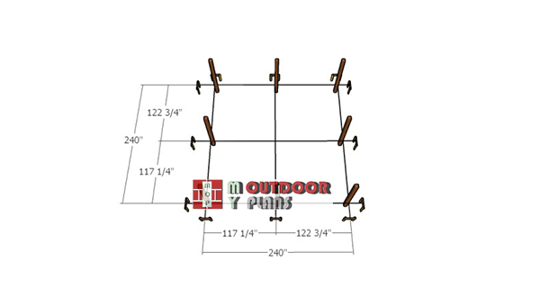 Laying-out-the-20x20-pavilion