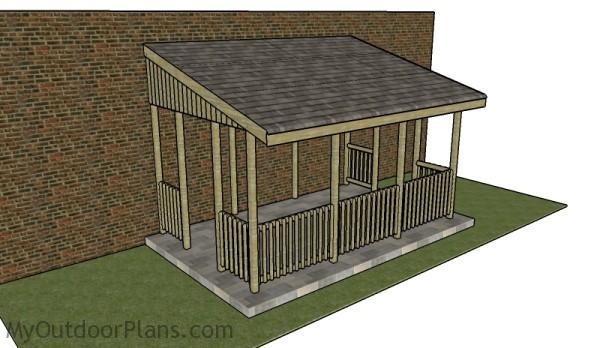 Lean to gazebo plans myoutdoorplans free woodworking for Gazebo house plans