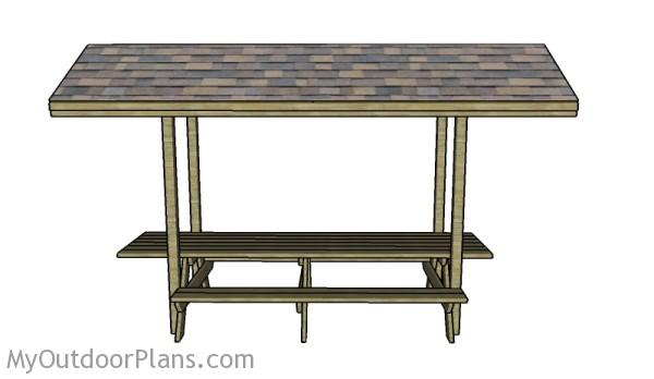 Picnic table with roof plans