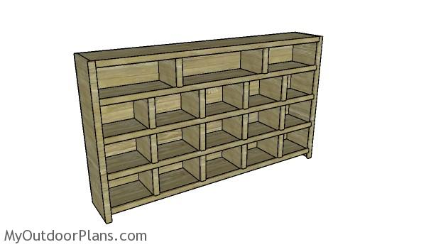 Video game console cabinet plans