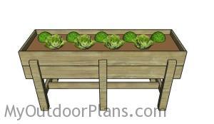 Waist high planter box plans