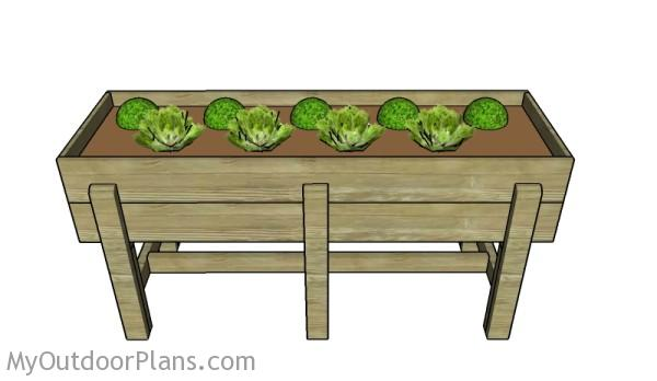 Waist high planter box plans