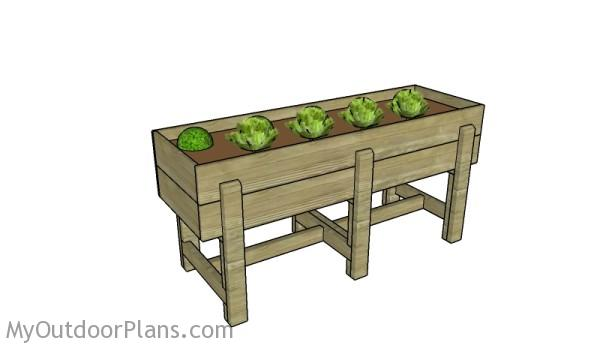 Waist High Raised Garden Bed Plans | MyOutdoorPlans | Free ...