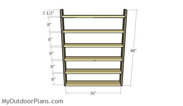 Assembling the frame of the DVD shelf