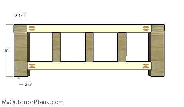 Assembling the frame of the coat rack