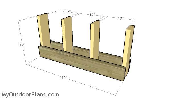 Assembling the frame of the rack