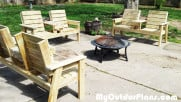Backyard Double Chair Bench With Table
