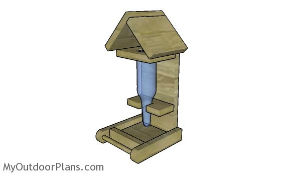 Bottle Bird Feeder Plans | MyOutdoorPlans | Free Woodworking Plans and ...