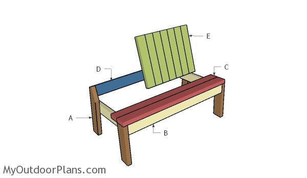 Building a 2x4 bench