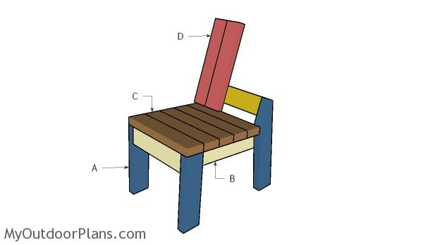 Building a 2x4 chair