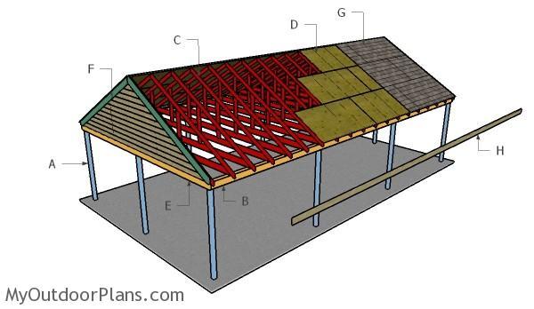 How To Build A Carport Roof Myoutdoorplans Free