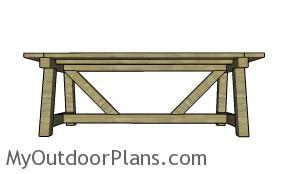 Building a 4x4 farmhouse table