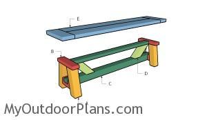 Building a farmhouse bench