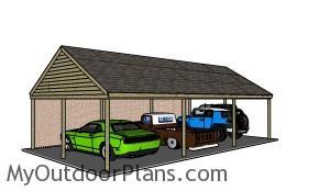Building a large carport