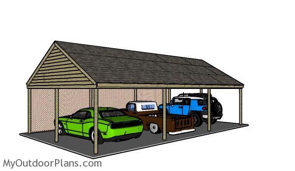 3 Car Carport Plans