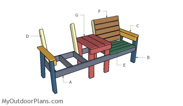 Building a large double chair bench