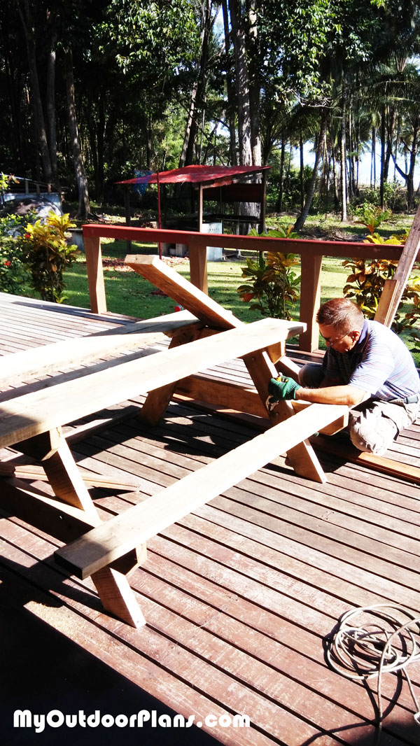 Building-a-picnic-table