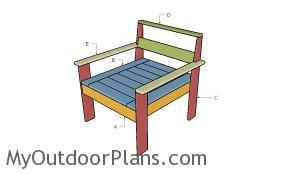 Building a sectional chair