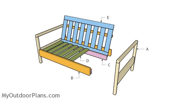 Building an outdoor loveseat