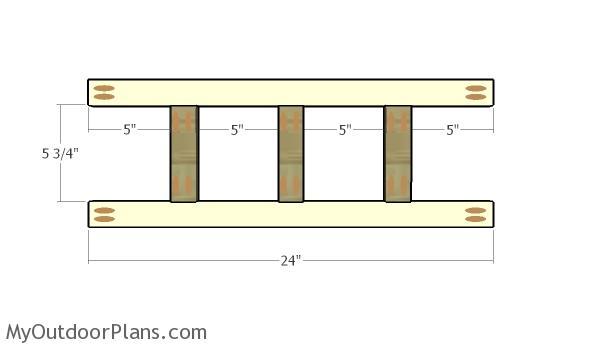 Building the coat rack panel